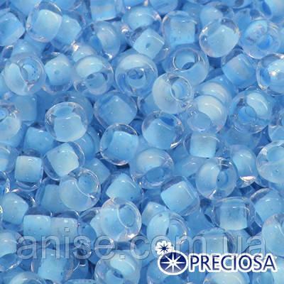 Бисер Preciosa 10/0 цв. 38362, Прозрачный Окраска из Середины CTC, Голубой, Круглый, (УТ0003624)