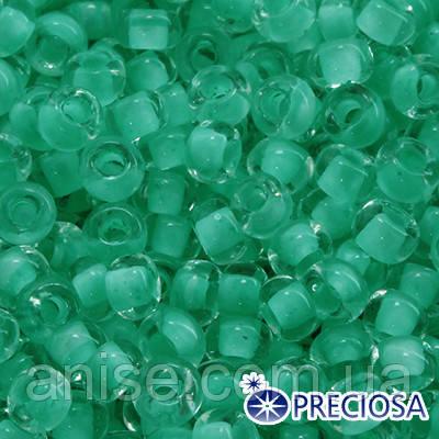 Бисер Preciosa 10/0 цв. 38358, Матовый Окраска из Середины CTCM, Зеленый, Круглый, (УТ0004306)