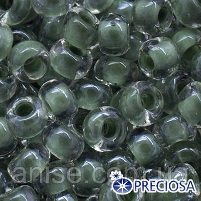 Бисер Preciosa 10/0 цв. 38659, Прозрачный Окраска из Середины CTC, Зеленый, Круглый, (УТ0004377)