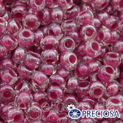 Бисер Preciosa 10/0 цв. 38898, Прозрачный Окраска из Середины CTC, Фиолетовый, Круглый, (УТ0001846)