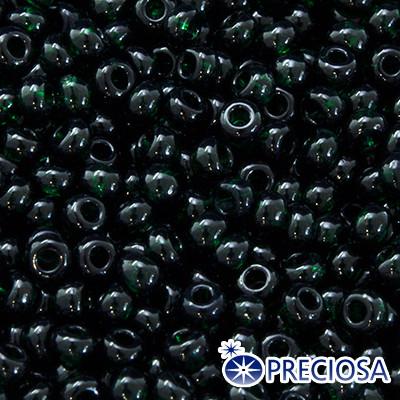 Бисер Preciosa 10/0 цв. 50150, Прозрачный NT, Зеленый, Круглый, (УТ0003169)