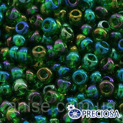 Бисер Preciosa 10/0 цв. 51120, Прозрачный радужный TR, Зеленый, Круглый, (УТ0002484)