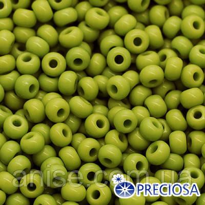 Бисер Preciosa 10/0 цв. 53430, Естественный Непрозрачный NO, Зеленый, Круглый, (УТ0010414)