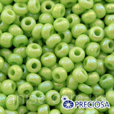 Бисер Preciosa 10/0 цв. 54410, Непрозрачный Радужный OL, Зеленый, Круглый, (УТ0001887)