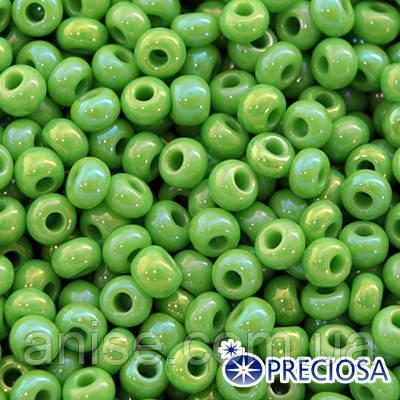 Бисер Preciosa 10/0 цв. 54230, Непрозрачный Радужный OL, Зеленый, Круглый, (УТ0001874)