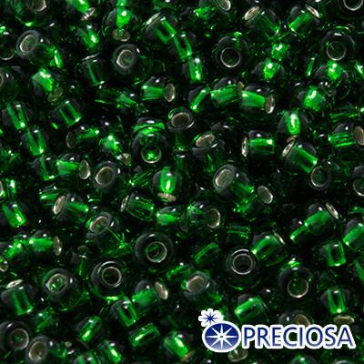 Бисер Preciosa 10/0 цв. 57120, Прозрачный с серебряной полосой TSL, Зеленый, Круглый, (УТ0003695)