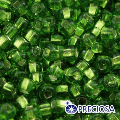 Бисер Preciosa 10/0 цв. 57100, Прозрачный с серебряной полосой TSL, Зеленый, Круглый, (УТ0003637)