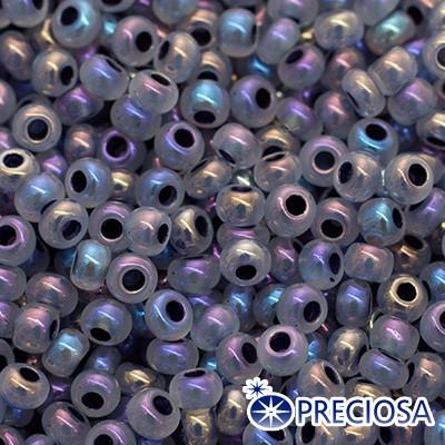 Бисер Preciosa 10/0 цв. 57549, Непрозрачный Радужный OL, Серый, Круглый, (УТ0004325)