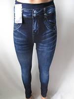Лосины женские с джинсовым рисунком , фото 1