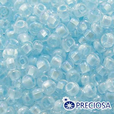 Бисер Preciosa 10/0 цв. 58562, Прозрачный радужный TR, Голубой, Круглый, (УТ0003664)