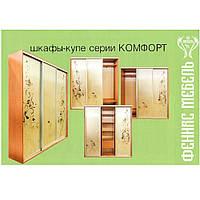 Шкаф-купе в спальню серии «Комфорт» (Феникс)