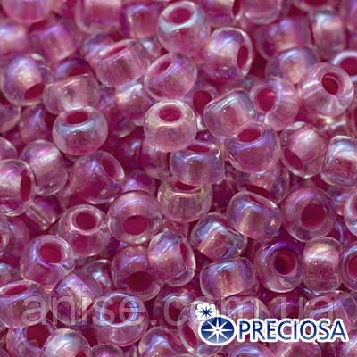 Бисер Preciosa 10/0 цв. 58598, Прозрачный радужный TR, Розовый, Круглый, (УТ0015363)