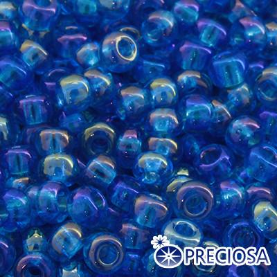 Бисер Preciosa 10/0 цв. 61150, Прозрачный радужный TR, Синий, Круглый, (УТ0002452)