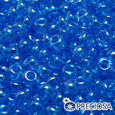 Бисер Preciosa 10/0 цв. 66030, Прозрачный блестящий TS, Голубой, Круглый, (УТ0003657)