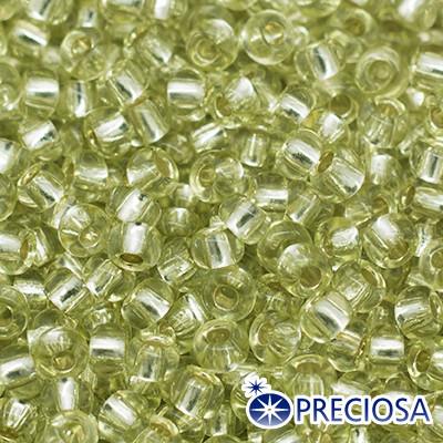 Бисер Preciosa 10/0 цв. 78153, Прозрачный с серебряной полосой TSL, Зеленый, Круглый, (УТ0004342)