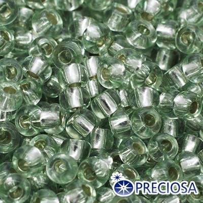 Бисер Preciosa 10/0 цв. 78162, Прозрачный с серебряной полосой TSL, Зеленый, Круглый, (УТ0004340)