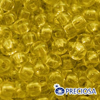 Бисер Preciosa 10/0 цв. 80010, Прозрачный NT, Желтый, Круглый, (УТ0003655)