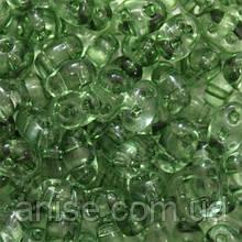 Бисер Preciosa Twin 01163, Прозрачный, Размер: 2,5х5мм, Цвет: Зеленый (УТ0027091)