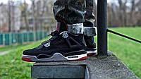 Кроссовки мужские Баскетбольные Nike Air Jordan IV Retro Black-Red