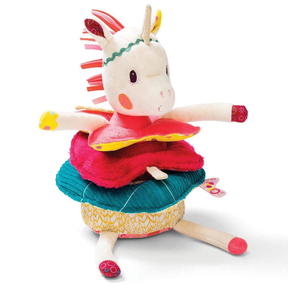 "Lilliputiens - Мягкая игрушка-пирамида ""Единорог Луиза"""