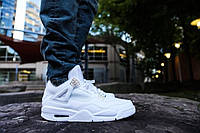 Кроссовки мужские Баскетбольные Nike Air Jordan 4 all white