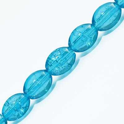 """Бусины """"Битое Стекло"""" Овальные, Цвет: Голубой A14, Размер: 8х6мм, Отверстие 1.5мм, около 95шт/нить, (УТ0027296)"""