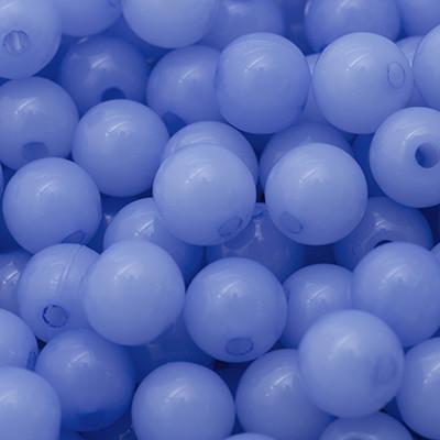 Акрилові намистини Желейні, Круглі, Колір: Блакитний, Діаметр: 10мм, Отв-нення 2мм, близько 90шт/50г, (УТ0005714)