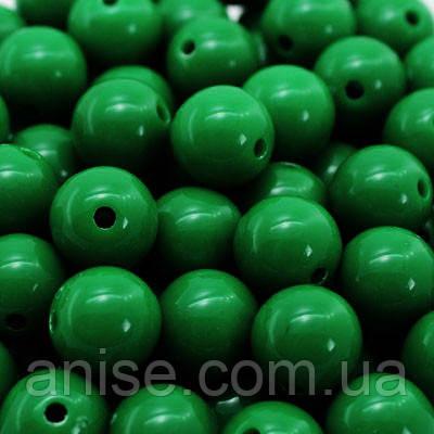 Бусины Акриловые Красочные, Круглые, Цвет: Зеленый, Диаметр: 8мм, Отверстие 1мм, около 170шт/50г, (УТ0010336)