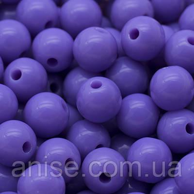 Бусины Акриловые Красочные, Круглые, Цвет: Фиолетовый, Диаметр: 8мм, Отверстие 1мм, около 170шт/50г, (УТ000007813)