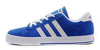 Мужские кроссовки Adidas Neo (Адидас Газели) синие