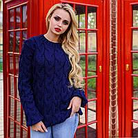 Акриловый свитер М  776907  Темный Синий
