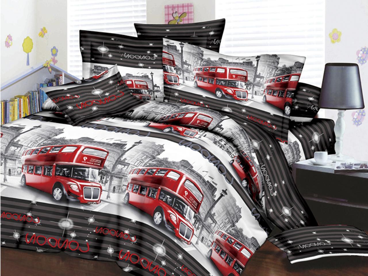 Двуспальное постельное белье Restline 3D Лондон