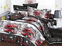 Двуспальное постельное белье Restline 3D Лондон, фото 1