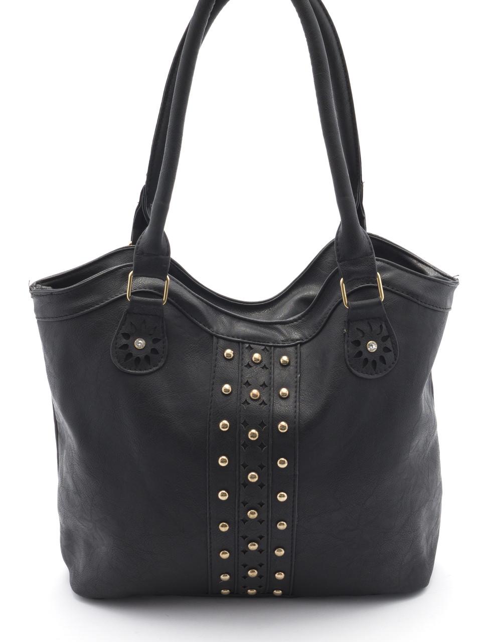 Вместительная и практичная женская сумка  Б/Н art. 8814 черный цвет