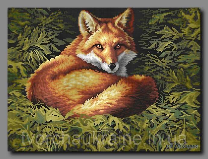 """Схема для вышивки бисером """"Рыжий лис"""""""