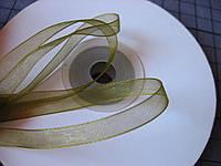 Лента органза, 6 мм, болотная