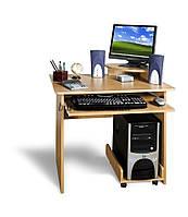 Небольшой  компьютерный стол с подставкой под монитор, СК-Мини, 80*60, бук светлый
