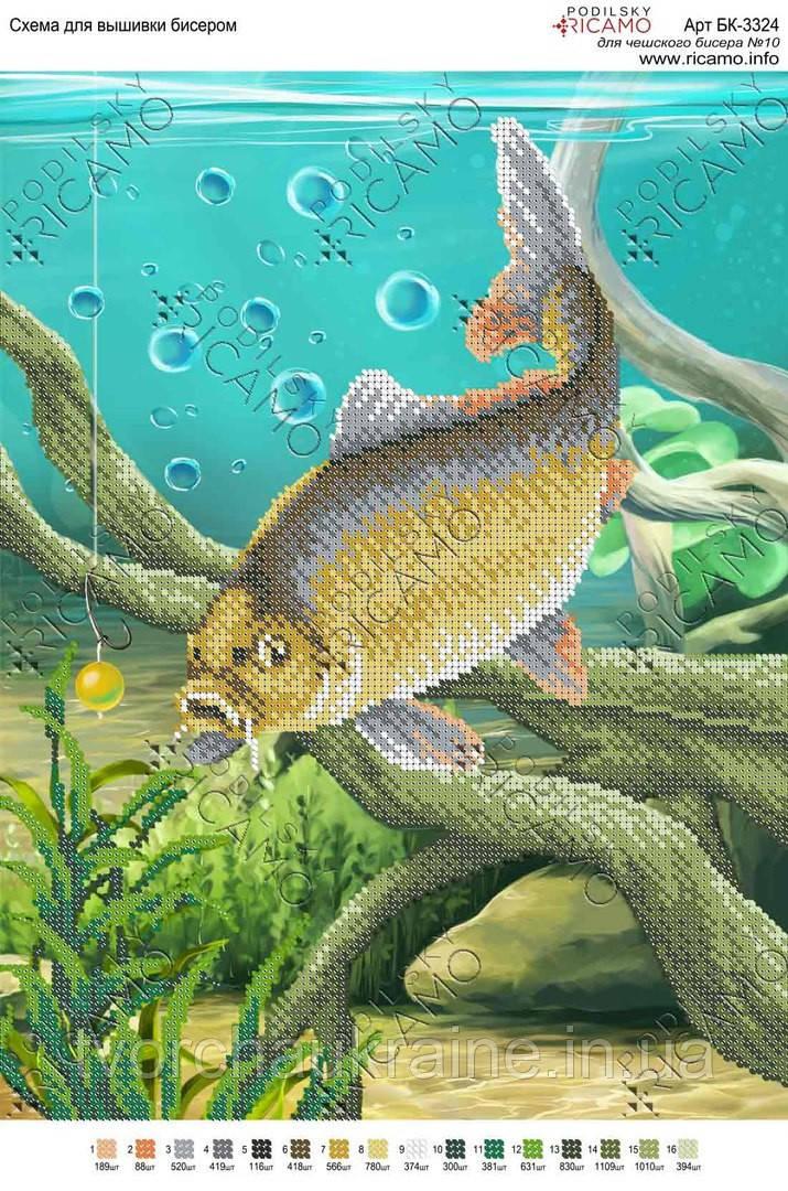 Схема для вышивки бисером Рыбалка
