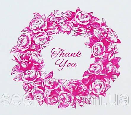 Наклейка цветная «Thank you», 1 шт.