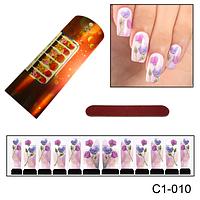 Фотодизайн цветочек на ногти