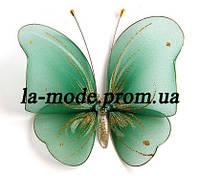 Бабочка для гардин и штор большая 17*17 см зеленая