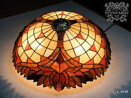 Luxury Люстра купол из кусочков цветного стекла в стиле Тиффани