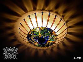 Декоративная Luxury люстра из кусочков цветного стекла для прихожей в стиле Тиффани