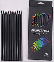 Карандаш 618-1213 Brilliance Pencil 12 цветов черное дерево уп12