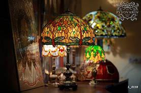 Витражный светильник янтарный Тиффани