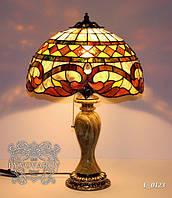 Настольная лампа Luxury из цветного стекла фонарного цветочного стиля Тиффани
