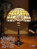 Настольная лампа Luxury кабинетного стиля из цветного стекла Тиффани