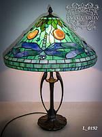 Настольная лампа стрекоза из стекла стиля Тиффани