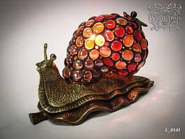 Подарочный светильник эксклюзивной работы улитка стиль Тиффани