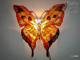 Светильник в холл из кусочков цветного стекла